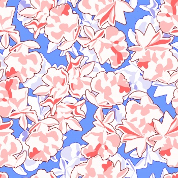 Abstract Pink Flowers