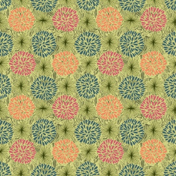 Abstract Seamless Pattern Vector Tracery Khaki Textile Background