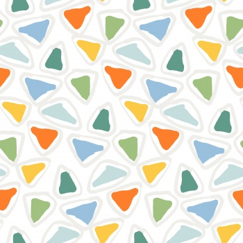 Abstract watercolor triangle geometric pattern