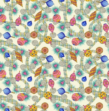 abstract with motif pattern