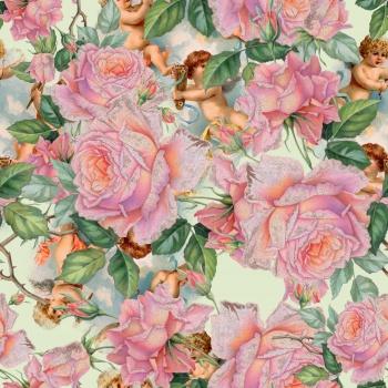 Angels in Rose Garden