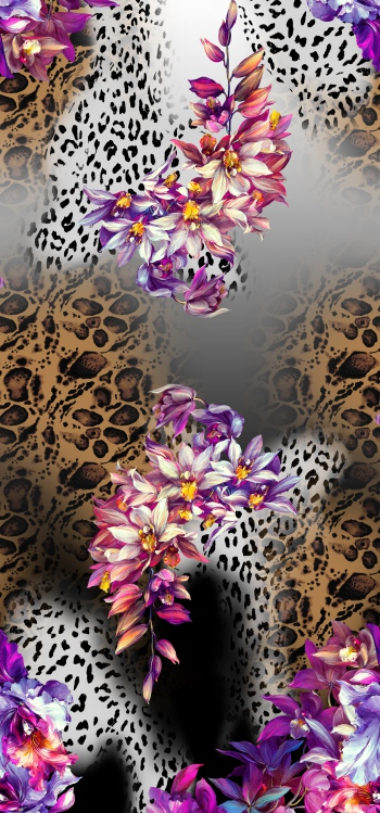 Animal skin and floral design