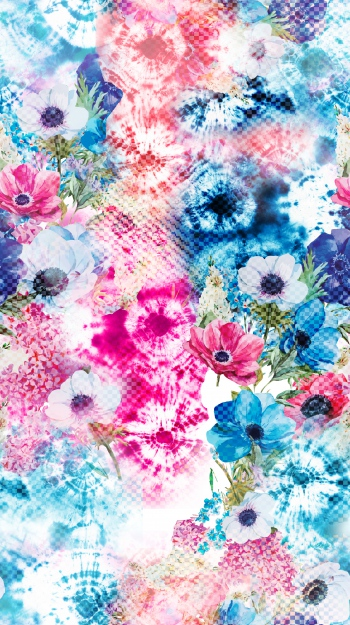 Batiks and flowers with special effect