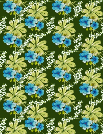 Beautiful blue flowers are on editable background-vrs2