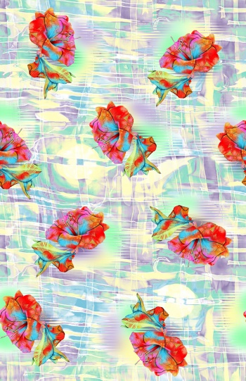 Beautiful floral pattern with background
