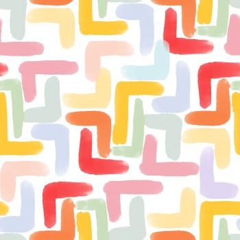 Beautiful watercolor maze geometric pattern