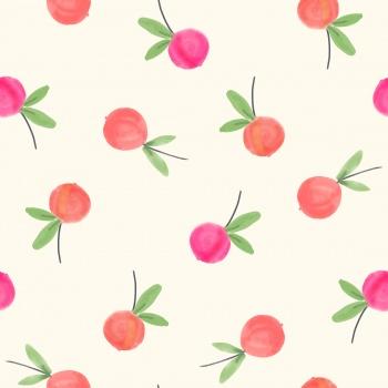 Beautiful watercolor peaches
