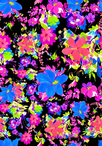 Big-blue and pink flowers