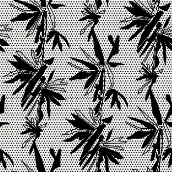 Black Abstract Flowers