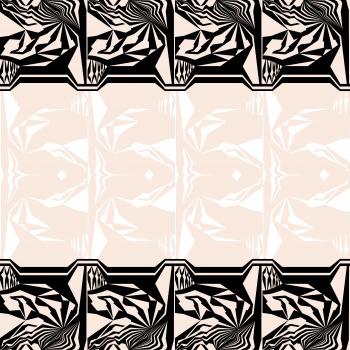 Black and White Tribal Design