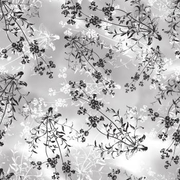 Black and Wihe Flowers