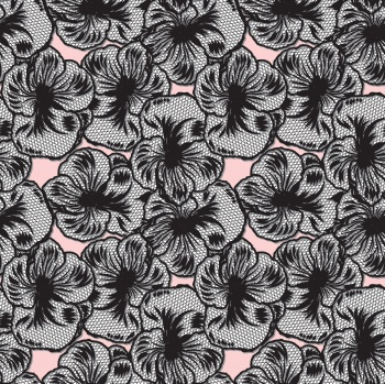 Black Line Art Flowers