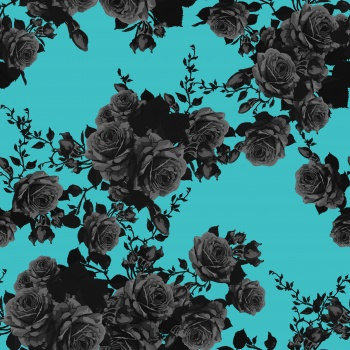 Black Roses on Blue