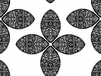 Black white petals
