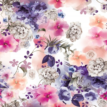 Bleached Floral Pattern