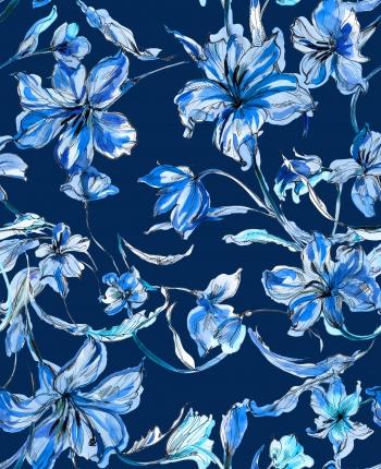 Blue lilies voyage