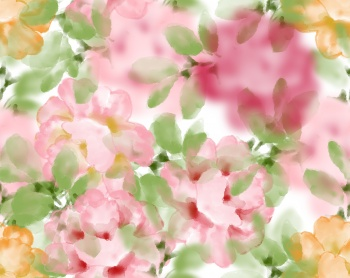 Blurred flower seamless pattern