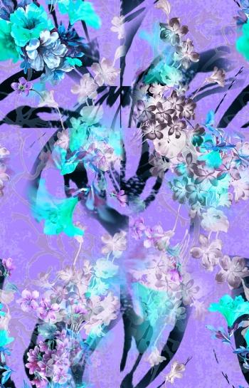 blurred ipomoea