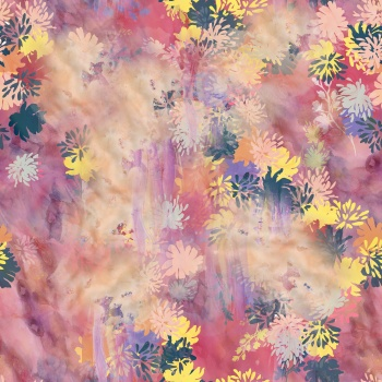 Bold flowers on bleached pink
