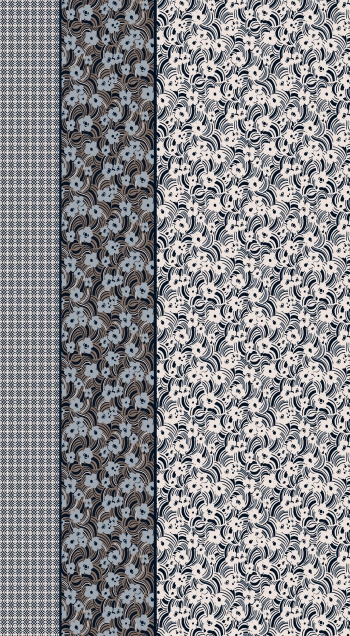 Border design-ethnic motifs and abstract flowers