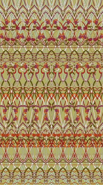 Border design that consists of classic motifs and stylised flowers