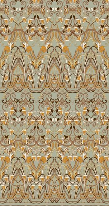 Border design that consists of special classic motifs