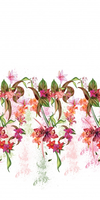 Bordered Design- flowers