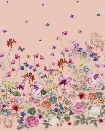 Bordered floral design.