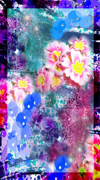 Bright art with bright flowers