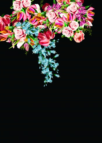 Bright floral design.