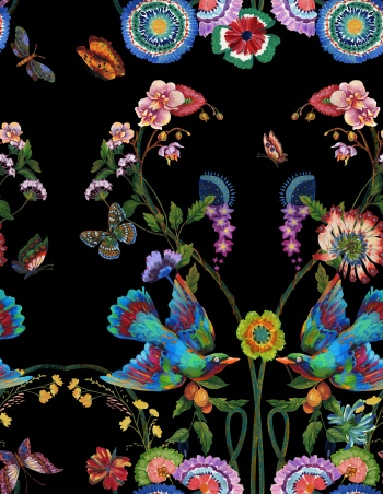 Butterfly, flower, Eagle