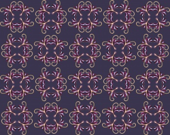 Checkered floral abstract