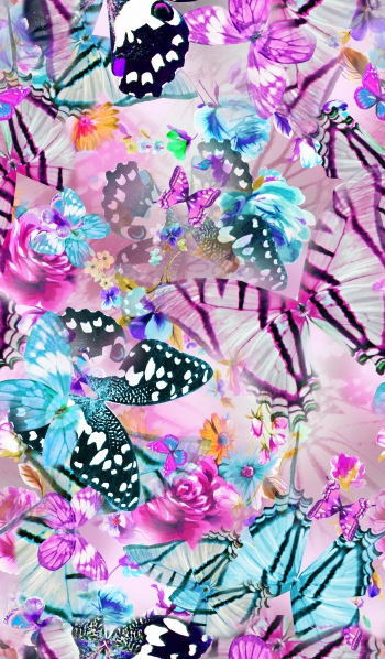 Cheerful butterflies