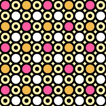 Circles and Dots in Bright Colors