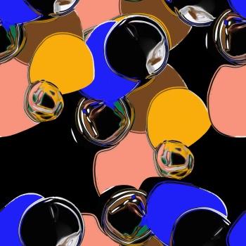 colored geometric pattern