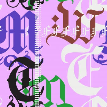 Colorful Gothic Letters
