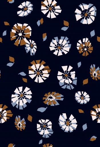 Cubic floral design