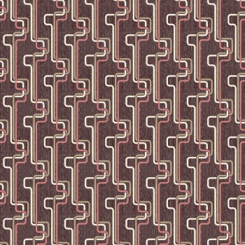 Curry Tally Black and Brown Contemporary Damask Upholstery Fabric