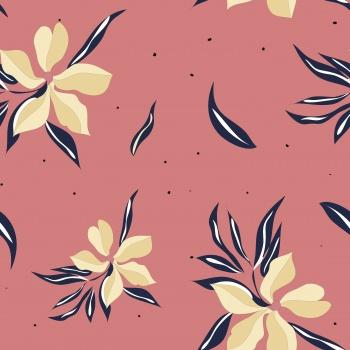 Cute graphic vector flower print.