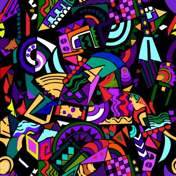 endless geometric colorful pattern