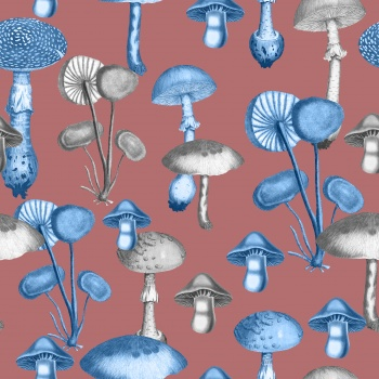 Dangerous mushrooms pattern