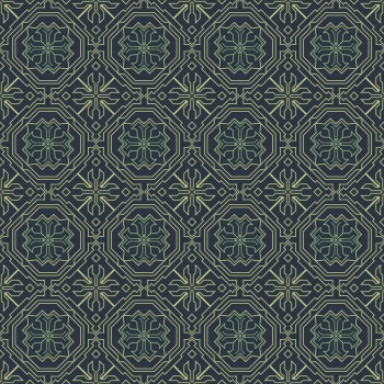 Decorative geometry line art pattern