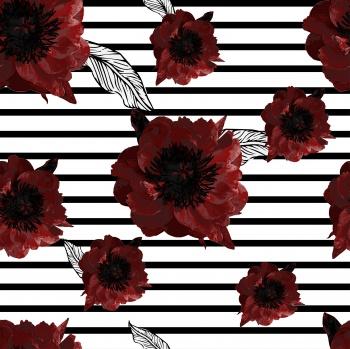 tea rose flowers on horizontal lines.