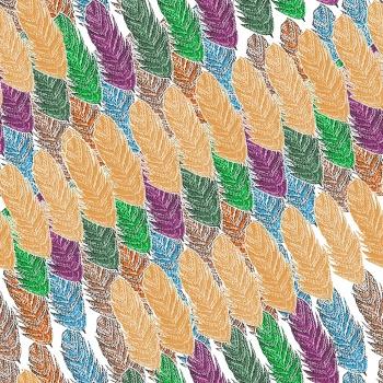 Diagonal Feathers