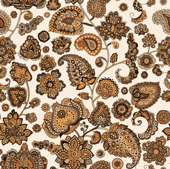 Digitally created ethnic motifs and paisleys