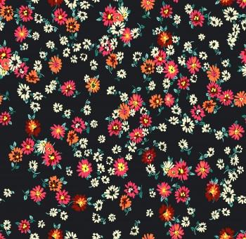 Digitally created multicolor daisies