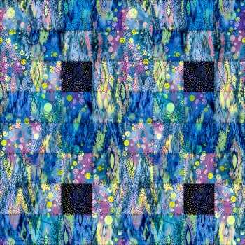 Digitally Created Patchwork Design