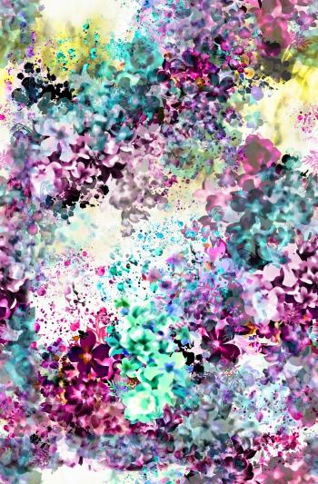 Digitally created purple floral design 2.