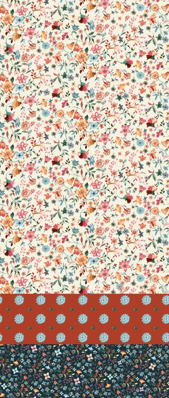 Ditsy Florals Block Pattern