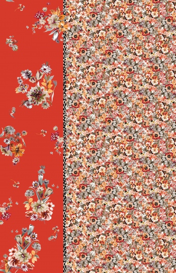 Ditsy Florals Blocked Pattern